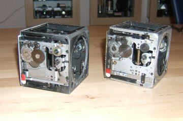Geöffnete Kameragehäuse